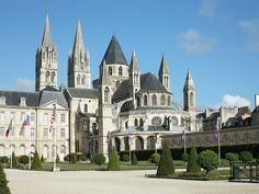 Cabecera de la iglesia de Saint-Étienne de Caen (Normandía).
