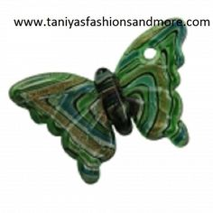 'Green Glass Butterfly Necklace Pendant' is going up for auction at  8am Mon, Sep 9 with a starting bid of $1.