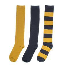 Navy + Gold 3-Pack Knee-High Socks #NFL #Saints #Milwaukee #Brewers #otk
