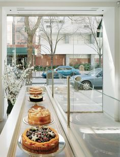 White interior of cake boutique