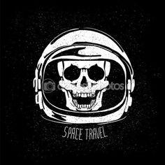 Casque de l'astronaute morte — Illustration #88981556