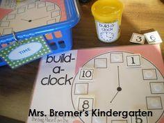 FREE Build a clock activity  Mrs. Bremer's Kindergarten: Math Work Stations