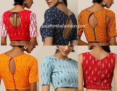 Readymade Ikat Cotton Blouse designs, shop cotton blous for sarees online, formal saree blouse designs, office wear saree blouse pattrens Designer Saree Blouses, Cotton Saree Blouse Designs, Saree Blouse Patterns, Fancy Blouse Designs, Blouse Neck Designs, Designer Dresses, Mary Janes, Design Online Shop, Stylish Blouse Design