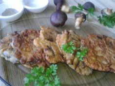 Placuszki grzybowe w cieście naleśnikowym Food And Drink, Chicken, Meat, Cubs