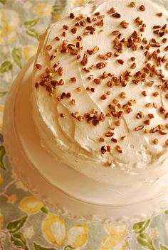 Banana Cake ~ MERCY! The pictures make this look like it should be Banana Pudding Cake!