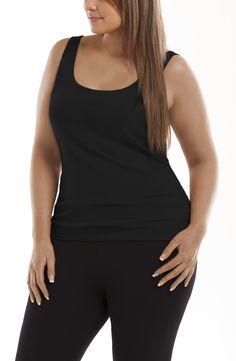 Scoop neck basic singlet top/Black Style No: Cotton Elastane Scoop neck top. A wardrobe essential. Black Style, Layering, Black Tops, Basic Tank Top, Diva, Scoop Neck, Essentials, Plus Size, Cotton