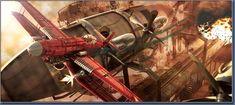 Art Contrarian: Dieselpunk Airplanes