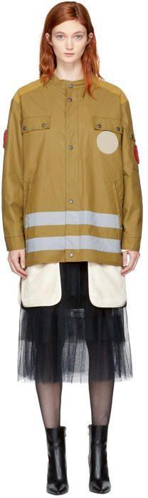 Maison Margiela Tan Coated Poplin Jacket