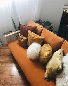 Room Decorating – Home Decorating Ideas Kitchen and room Designs Orange Sofa, Barbie Dream House, Dream Apartment, Dream Rooms, Home Decor Inspiration, Decoration, My Dream Home, Home And Living, Bedroom Decor