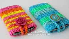 Ravelry: Easy Cell Phone Case or Tablet Holder with Help Video pattern by Naztazia