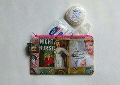 Check out this item in my Etsy shop https://www.etsy.com/ca/listing/281767484/nurse-pouch-nurse-bag-nurse-make-up-bag