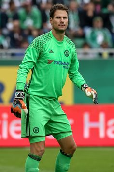 Asmir Begovic of Chelsea in action during an friendly match between SK Rapid Vienna and Chelsea F.C. at Allianz Stadion on July 16, 2016 in Vienna, Austria.