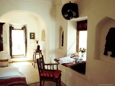 Window shutter folds down as a desk! So clever. An Indian Summer: Traditional Indian Decor - Part 2