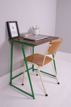 Children's Vintage School Exam Desk with by bluetickingspaces                                                                                                                                                      More                                                                                                                                                                                 More