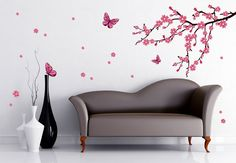 Cherry Blossoms & Butterflies - what an amazing spring feeling! www.wall-art.com