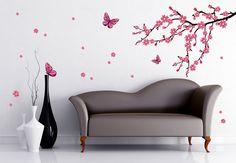 Interieur Inspiratie Deze roze muursticker vlinder vrolijkt je interieur inrichting op