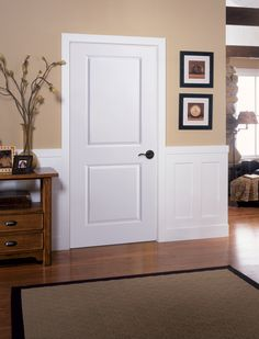 Provide Increased Security To Your Home With This Masonite Solidoor Smooth  Two Panel Square Solid Core Primed Composite Single Prehung Interior Door.