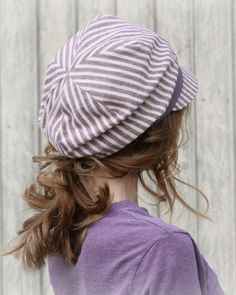 Summer Slouchy Visor Beanie Newsboy Cap in by GreenTrunkDesigns