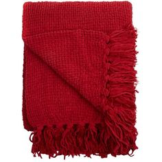 Home Collection Red chunky chenille throw (265 BRL) ❤ liked on Polyvore featuring home, bed & bath, bedding, blankets, red throw, chunky throw blanket, chenille throw blanket, chenille throw and chunky blanket