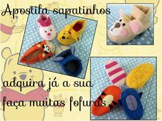 apostila sapatinhos de bebe  pooh cutes