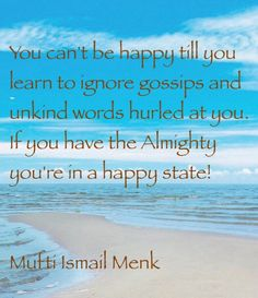 Islamic quote by Mufti Ismail Menk