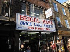 Bagel shop on Brick Lane open 24 hours