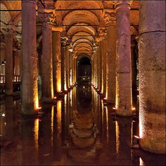 Bascilla Cistern where the Ottoman's used to keep the water supply so it wouldn't get poisoned by enemy forces.