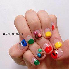 Cute Nail Art, Cute Acrylic Nails, Nail Art Diy, Simple Nail Art Designs, Nail Designs, Sun Nails, Lines On Nails, Kawaii Nails, Minimalist Nails
