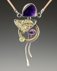 Algirdas Morkunas, Nita sterling silver, flint, gemstone, peridot, steel, leather, 2012