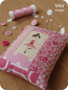 Ballerina Pincushion by ViVá, via Flickr