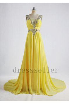 Sun Day Yellow evening dress