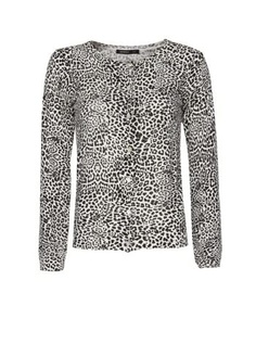 bebe 100% Cashmere Twin Set Animal Print Cardigan Sweater Camisole ...