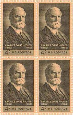 Charles Evans Hughes Set of 4 X 4 Cent Us Postage Stamps Scot #1195a by U.S…