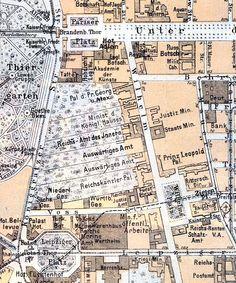 Stadtplan 1904 die Wilhelmstrasse