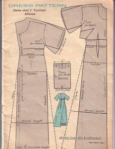 Free Fashion Doll Clothes Pattern - Dress