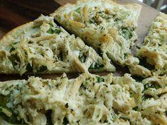 Chicken & spinach alfredo pizza - Drizzle Me Skinny!Drizzle Me Skinny!