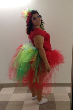 This year for halloween I was a Parrot... Made the head band and tutu out of tulle! #DIY
