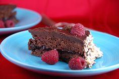 Chocolate and raspberry Sacher torte
