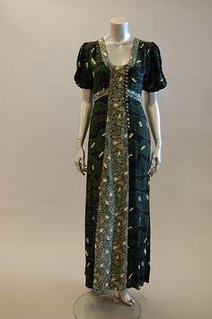Ossie Clark w/ Celia Birtwell print dress, green