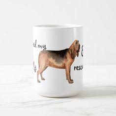 Rescue Bloodhound Coffee Mug   pug illustration, gifts for hum, pug coffee mug #friendsthatbuymesocks #pug #pugs Art Beagle, Beagle Dog, Boxer Dogs, Westie Puppies, Westies, Border Collie, Pug Mask, Pug Illustration, Cane Corso Dog