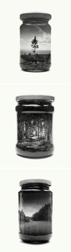 Bottled Finnish Landscapes Captured With Double-Exposure Photography by Christoffer Relander