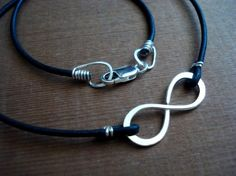 Infinity to Eternity Black Leather Unisex by PendragonJewelry, $38.00
