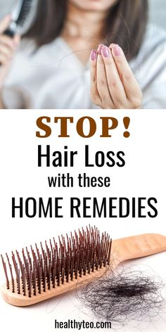 Home remedies that will help you to stop hair loss. Alopecia Areata or hair loss is a very common condition today that affects men and women. These remedies can help you to stop that. Afro Hair Loss, Cat Hair Loss, Hair Loss Cure, Oil For Hair Loss, Stop Hair Loss, Prevent Hair Loss, Biotin For Hair Loss, Hair Loss Shampoo, Biotin Hair