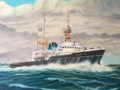 Zwarte Zee Nautical Painting, Nautical Art, Ship Paintings, Tug Boats, Deep Sea, Paddle, Sailing, Sleep, Boats