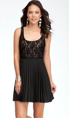 Bebe pleated dress - http://fashchronicles.blogspot.com/2012/12/last-minute-holiday-shopping-spree.html