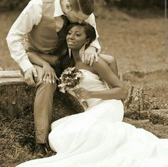 Gorgeous interracial couple wedding photography #love #wmbw #bwwm