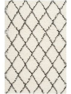 Safavieh Moroccan Shag Collection MSG343A Ivory and Grey Area Rug (4' x 6') ❤ Safavieh