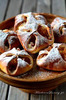 Kołoczki Śląskie z serem i jabłkami