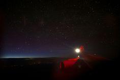 vista avião céu estrelado noite