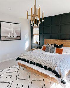 Home Interior Wall .Home Interior Wall Home Bedroom, Bedroom Wall, Bedroom Decor, Design Bedroom, Nautical Bedroom, Bedroom Ideas, Modern Bedroom, Mid Century Modern Master Bedroom, Dark Master Bedroom